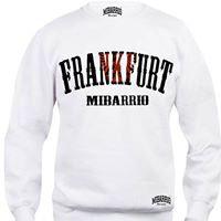 Mi Barrio Frankfurt Adler Schriftzug Herren Sweatshirt, Pulli