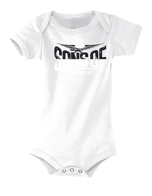 Sons of Frankfurt Baby Strampler Black & White 100% Bio Baumwolle