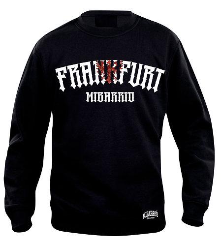 Mi Barrio Frankfurt1 Adler Sweatshirt in schwarz, rot,weiss und grau