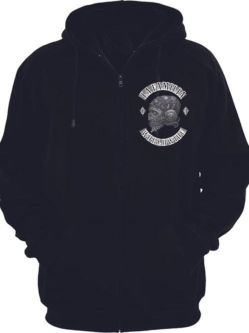 La Familia Original Worldwide, Zipper Hooded Sweat Jacke in schwarz