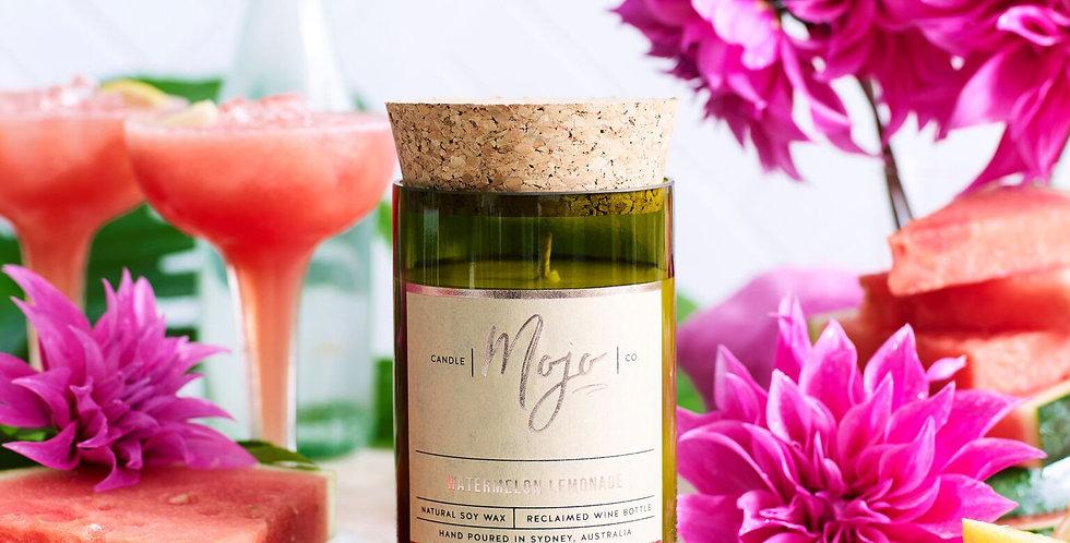 WATERMELON LEMONADE - Reclaimed Wine Bottle Soy Wax Candle