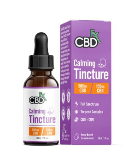 CBN + CBD CALMING TINCTURE FOR SLEEP 500MG