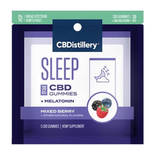 30mg Broad Spectrum CBD Sleep Gummies + Melatonin - 5 Count - 0% THC*