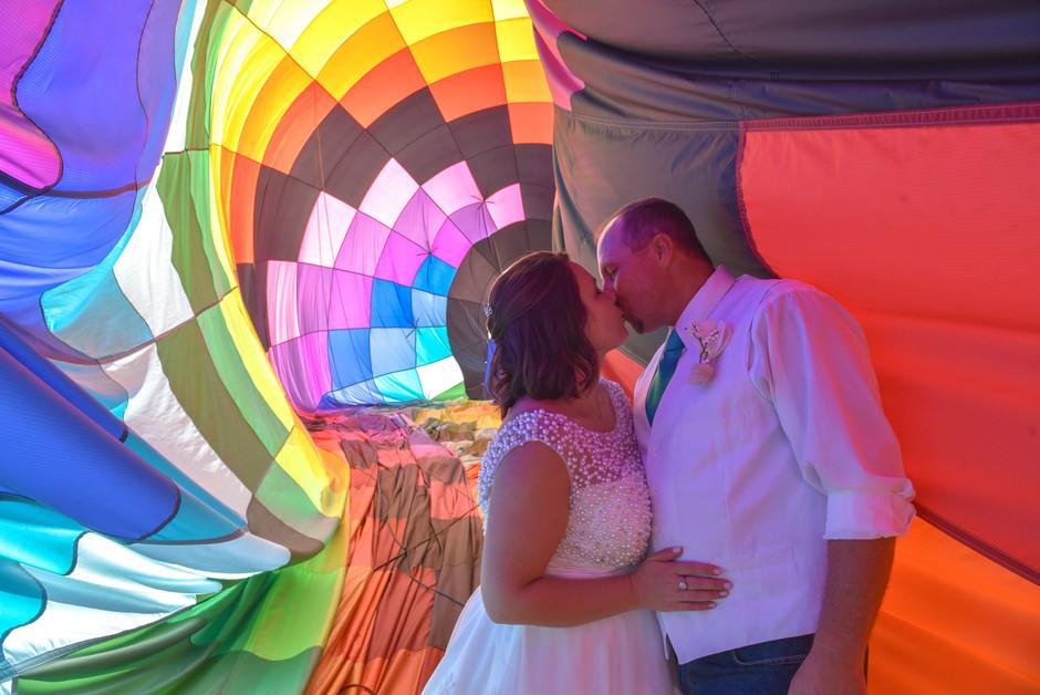 Shawna + Jody's Hot Air Balloon Wedding // Cumming, GA wedding photographer
