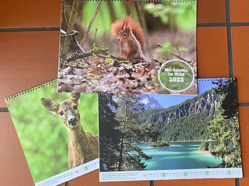 Tischkalender A5 Jahr 2022 - Mit Salomo im Wald