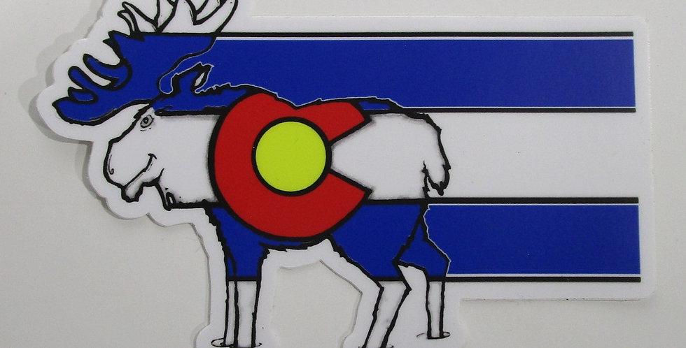 Colorado Weather Proof Sticker - Moose