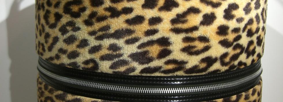 Leopard Print Hat Box