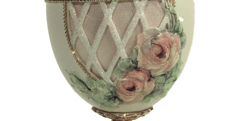 Goose Egg Carved Jewel Box