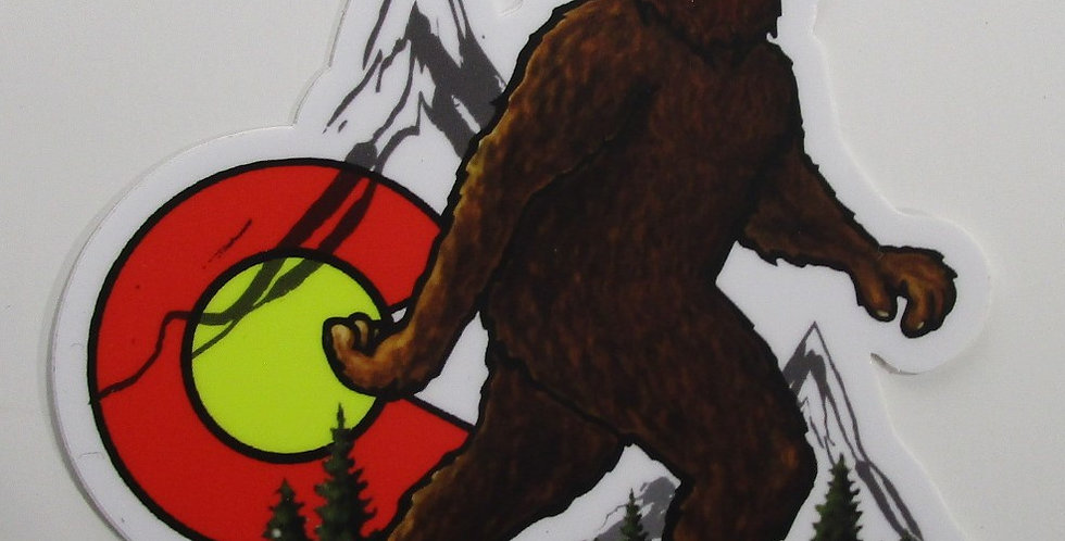 Colorado Weather Proof Sticker - Big Foot / Sasquatch