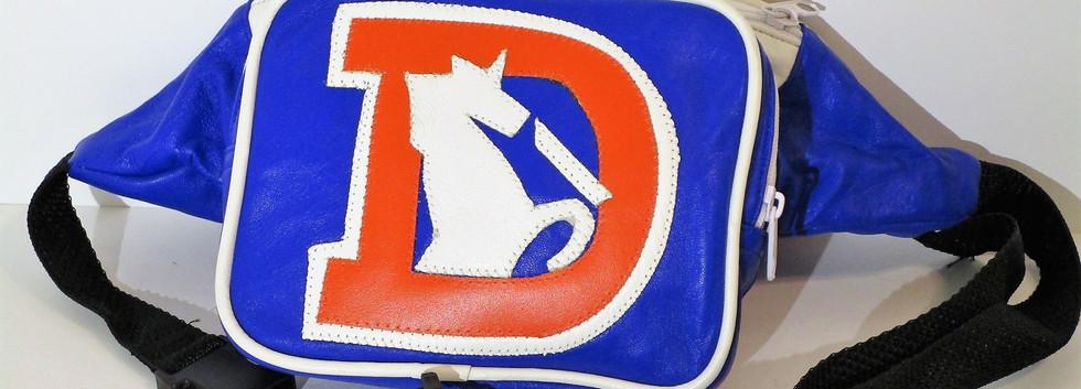 Vintage Leather Denver Broncos Fanny Pack