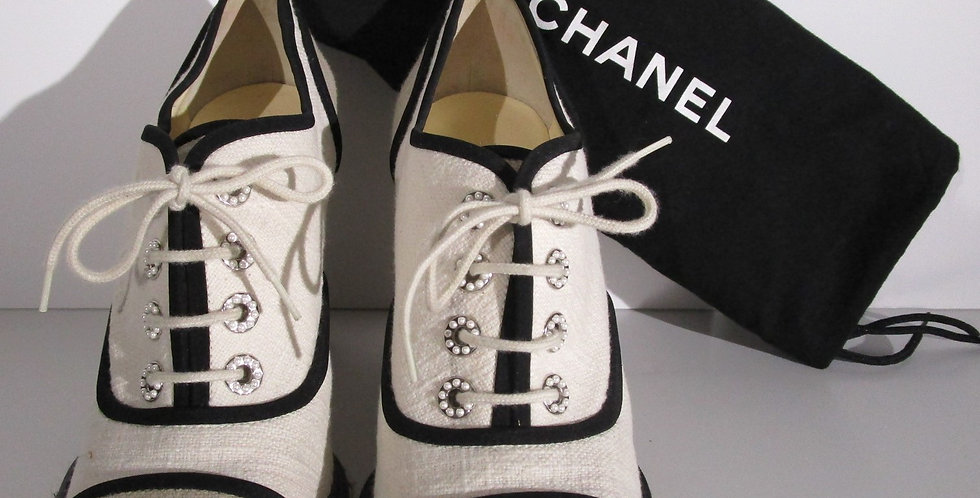 CHANEL Espadrille Wedge Shoes