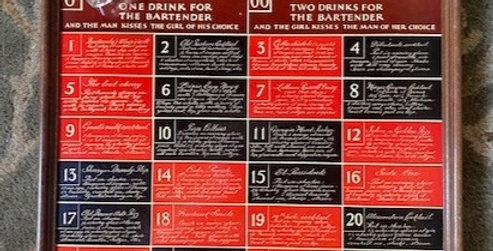 Vtg Roulette Drinking Game Tray