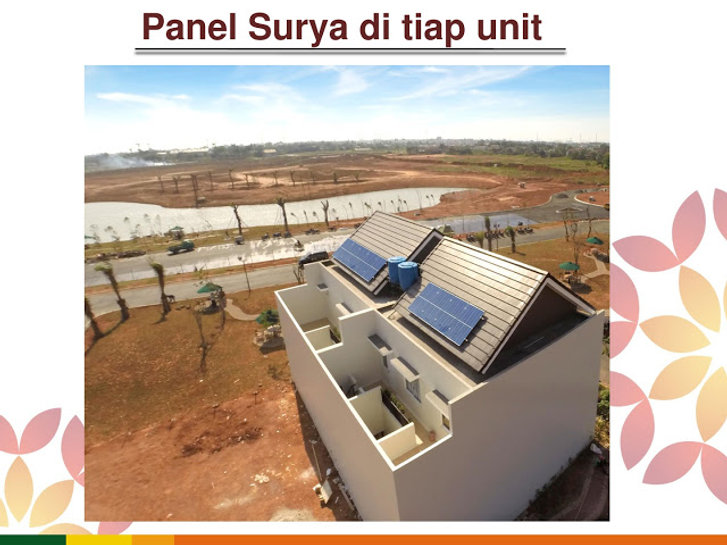 Solar Panel Cluster Verdi Symphonia Summarecon Serpong summarecon-residence.com