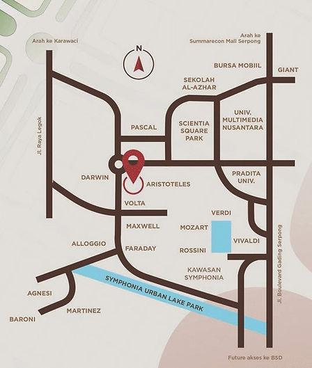 Peta Lokasi Ruko Aristoteles
