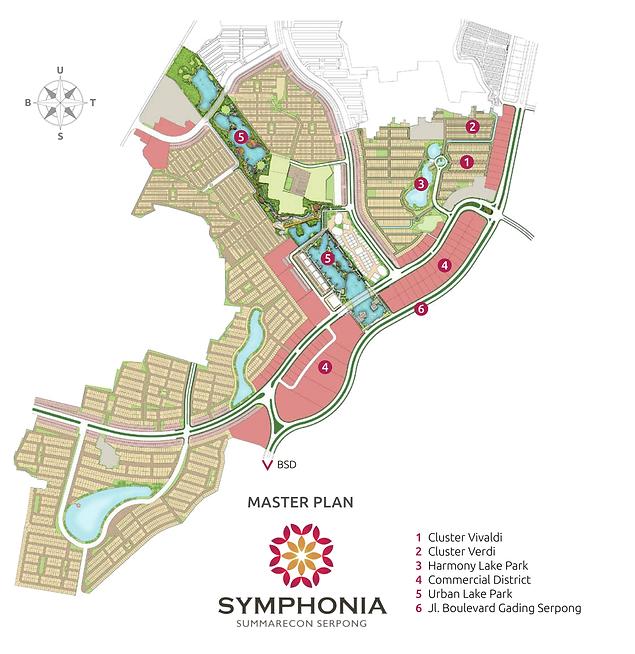 Master Plan Cluster Verdi Symphonia Summarecon Serpong summarecon-residence.com