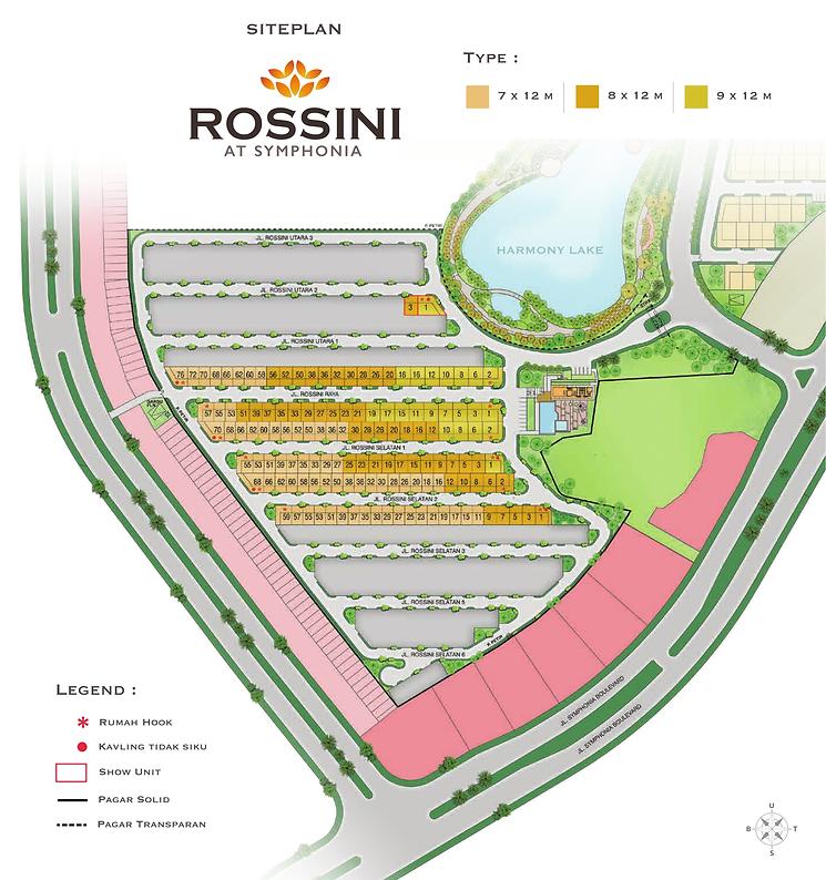 Rossini mozart Symphonia Summarecon Serpong Siteplan summarecon-residence.com