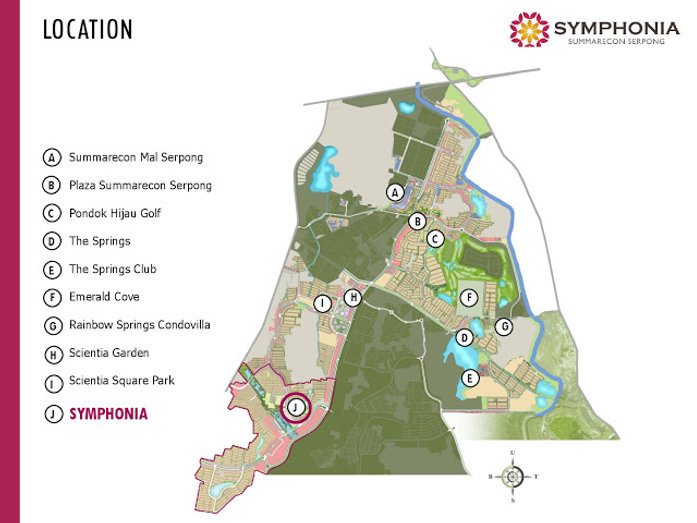 Map Lokasi Cluster Verdi Symphonia Summarecon Serpong summarecon-residence.com