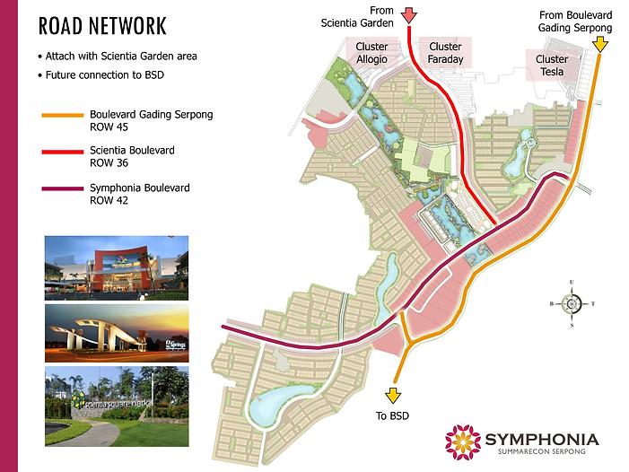 Zoom Map Lokasi Cluster Verdi Symphonia Summarecon Serpong summarecon-residence.com
