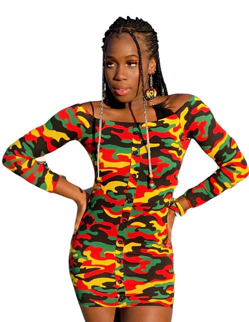 REGGAE  Camouflage Dress