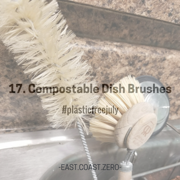 Switch out those dish plastic brushes for natural, compostable ones instead!