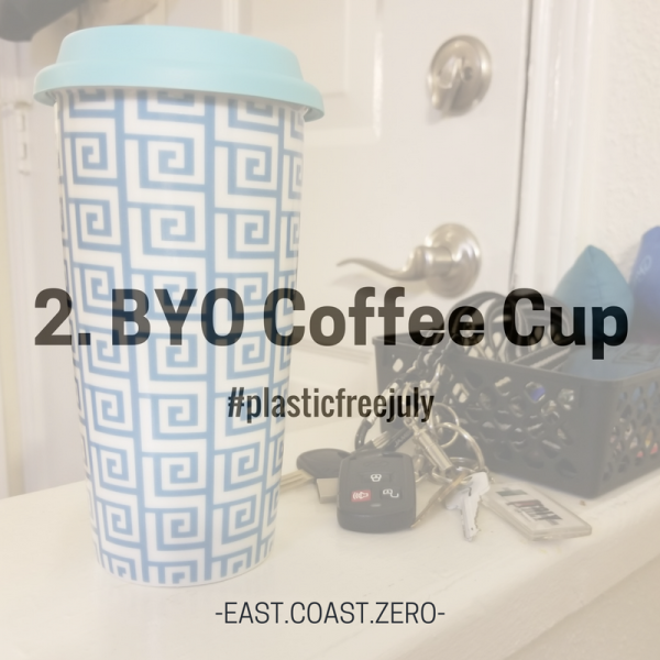 Even paper cups have a plastic lining that makes them inefficiently recyclable and non-compostable. There are SO many different reusable cups out there! Stash one in your car or desk drawer for those days you forget to grab one from home. Pro-tip: leave one by your keys so you're less likely to forget!