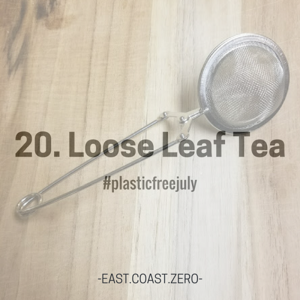 Did you know that most disposable tea bags are made of a plastic-infused material? Skip the plastic toxins and opt for loose leaf tea and a metal infuser instead!