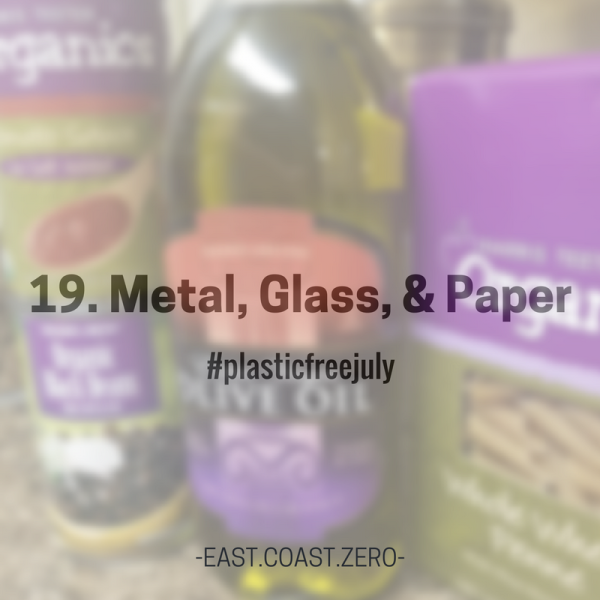 Whatever your access situation is, you can opt for products packaged in metal, glass, and paper over plastic! Paper is both recyclable and compostable, and metal and glass are infinitely recyclable, and the more people purchase and recycle glass, the higher the demand for it will be and the more valuable glass will become to recycling facilities and manufacturers!