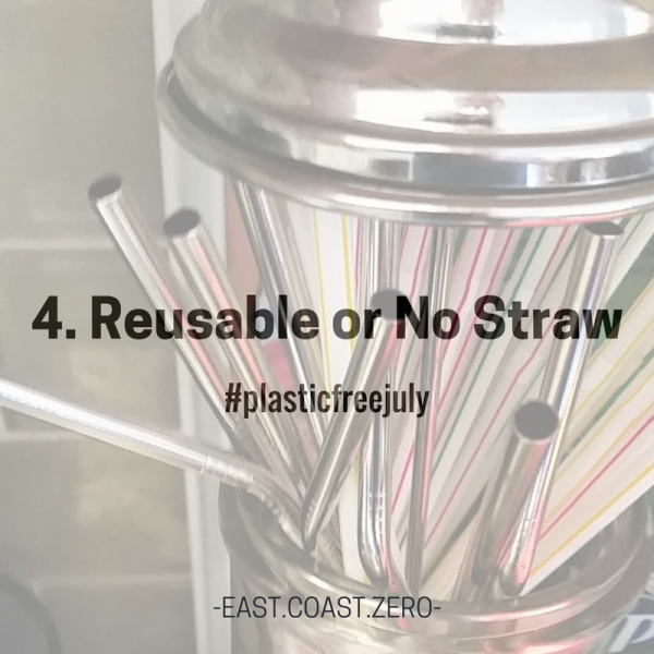 """""""No straw please!"""" – three little words to tack onto the end of your drink order that can make a huge impact! Plastic straws are a leading contributor to plastic pollution and harmful to marine life. Skip the straw to save a sea turtle! If going strawless isn't for you, check out some of the many reusable straws out there, such as metal, bamboo, or glass!"""