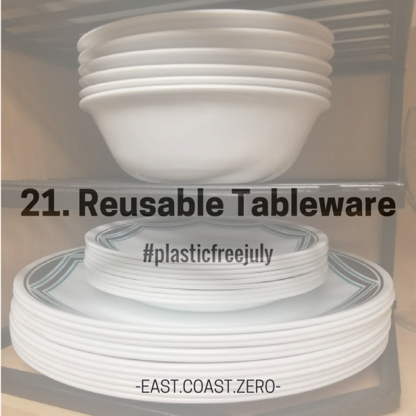 Skip the disposable plastic or plastic-coated paper plates and opt for classic reusable tableware for your daily needs!