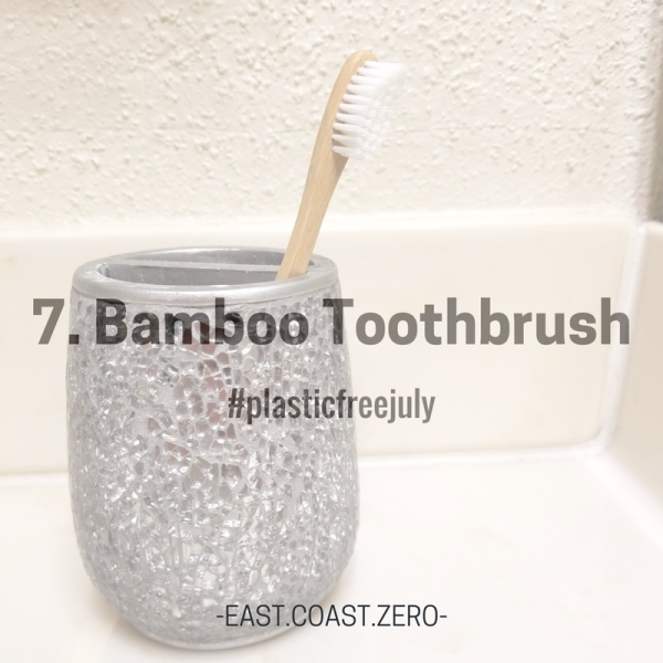 Plastic toothbrushes are another item that somehow end up in places they don't belong – try using a bamboo toothbrush instead! When it's time to replace, just pull out & throw out the bristles, & compost the brush!