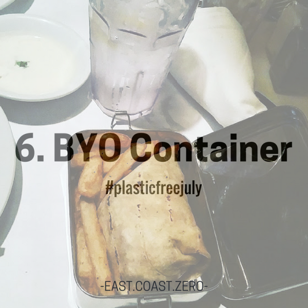 Know you'll be eating out or grabbing takeout? Stash a container in your bag to use instead of disposable to-go boxes! Best part is, you don't have to wait for your server to pack up your leftovers – just plop them in your container, pay your bill, and go! And depending on your container, you probably won't even have to transfer your food to another dish when it's time to enjoy it again!