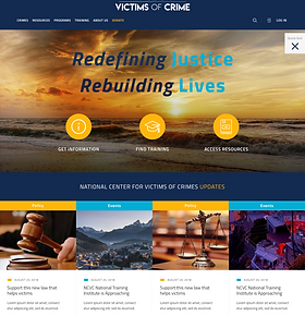 victims of crime website redesign