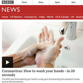 BBC: Coronavirus: How to wash your hands - in 20 seconds