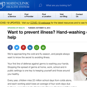 Mayo Clinic: Want to prevent illness? Hand-washing can help