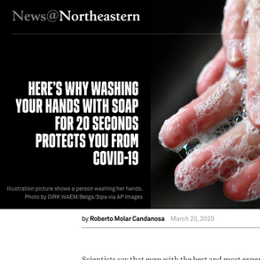 Northeastern: Here's why washing your hand with soap for 20 seconds protects you from COVID-19