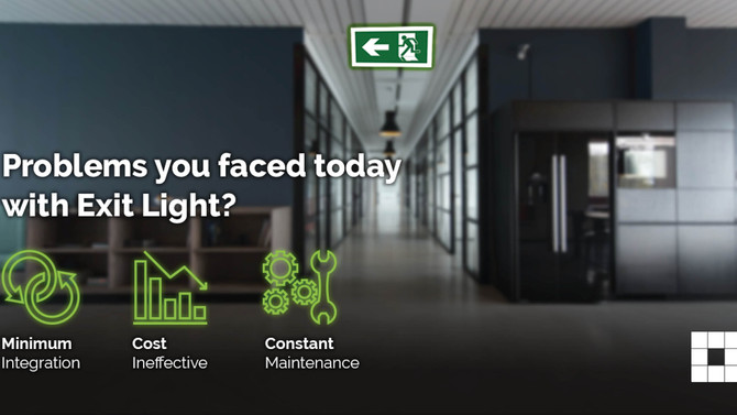 Smart Exit Lights: A Safe and Smart Workplace for Tomorrow