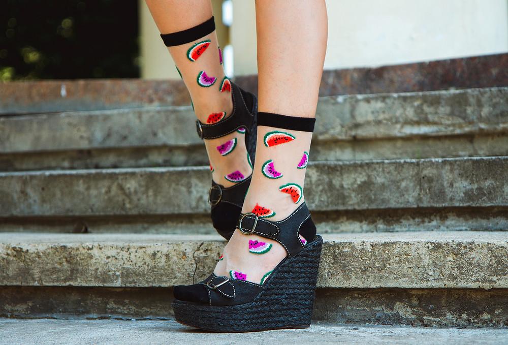 Tabbisocks Wartermelon Sheer Socks