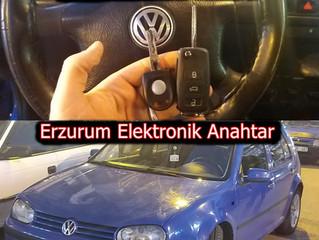 1999 Volkswagen Golf Kayıptan Sustalı Kumandalı Anahtar Yapımı