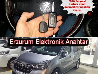 2016 Peugeot Partner Zenit İmmobilizer Anahtar Yapımı