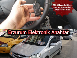 2006 Hyundai Getz Sustalı Kumandalı Anahtar Yapımı