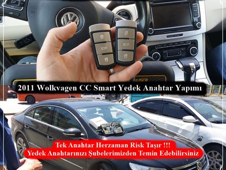 2011 Volkswagen CC Smart Yedek Anahtar Yapımı