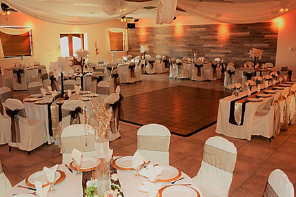 Old Town Reception Hall decorted for Wedding Reception