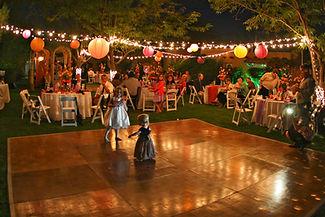 Garden Reception at night