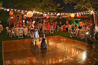 Garden Reception at night