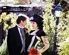 Wedding Couple Camera Pose