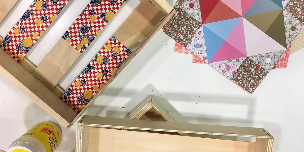 Atelier décopatch sur boite
