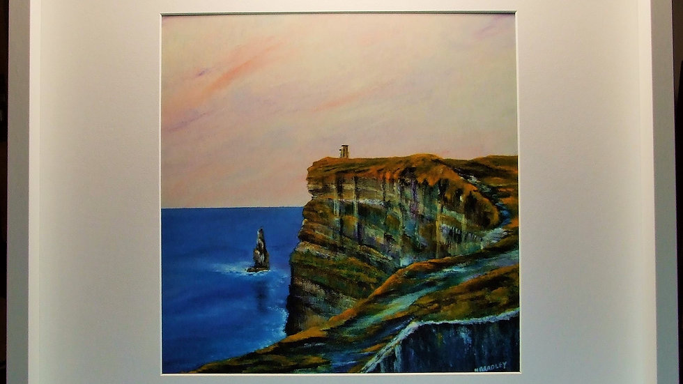 Sunset at Moher.  Print