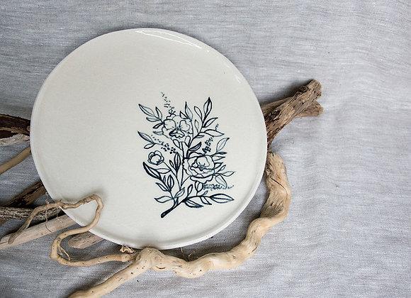 Dinnerteller mit Blumen Tattoo