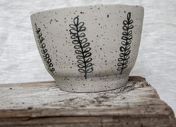 Blumentopf mit Muster