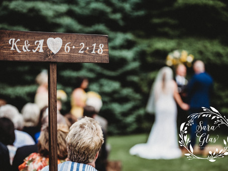 Kendall & Aaron } The Perfect Backyard Wedding